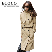 Luxury Autumn Spring Khaki Black Double Breasted Sleeve Turn-down Collar 2 Sets Long Windbreaker Overcoat Trench Coat Dress D023