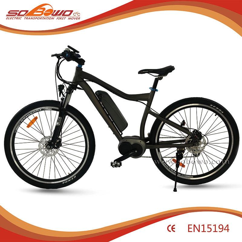 Power electric bike 250w mid drive motor e bike sobowo for Mid motor electric bike