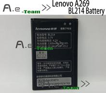Lenovo A208t аккумулятор BL214 1300 мАч 3.7 В аккумулятор Lenovo A218t A269 A305E телефон + номера