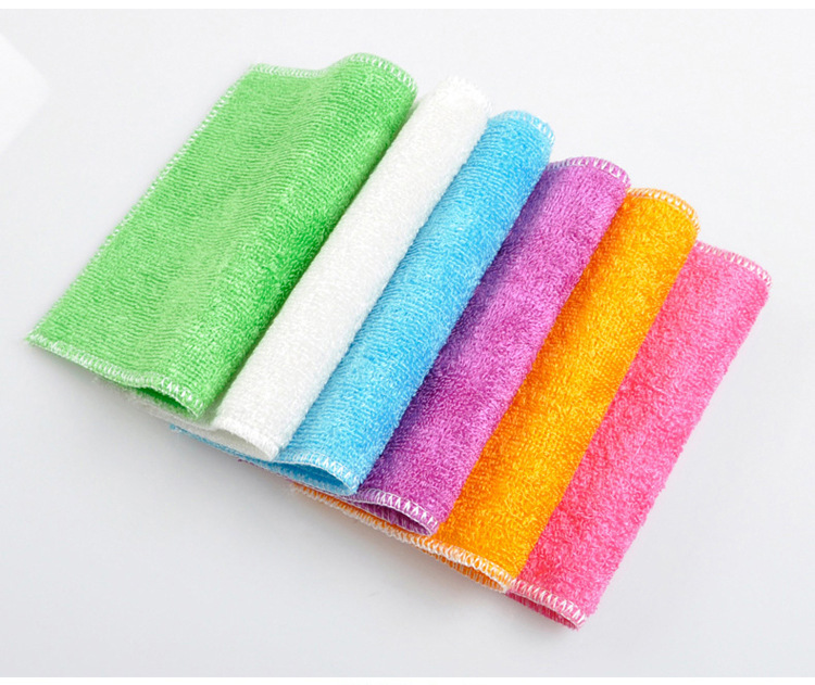 High Efficient Colorful Dish Cloth Bamboo Fiber Washing Dish towel Magic Kitchen Cleaning Cloth Wipping Rags(China (Mainland))