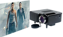 Black White BT-60 LED Projector HD 1920x1080 400 Lumens Front/Rear Projection Used Home Theater Business Education(China (Mainland))