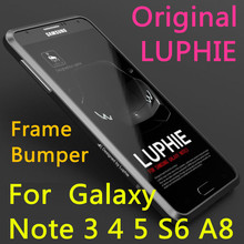 Original LUPHIE For Samsung Galaxy Note 3 45 S6 A8 Metal Alloy Aerometal Aluminum Frame Bumper Screen Protector Shell Phone Case(China (Mainland))