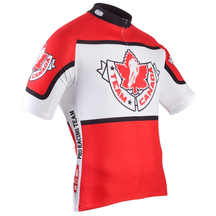 2016 men Canada Team Cycling Jersey Short Maillot Ropa Ciclismo Bike Bicycle Wear Breathable JIASHUO Cycling Clothing Quick Dry(China (Mainland))