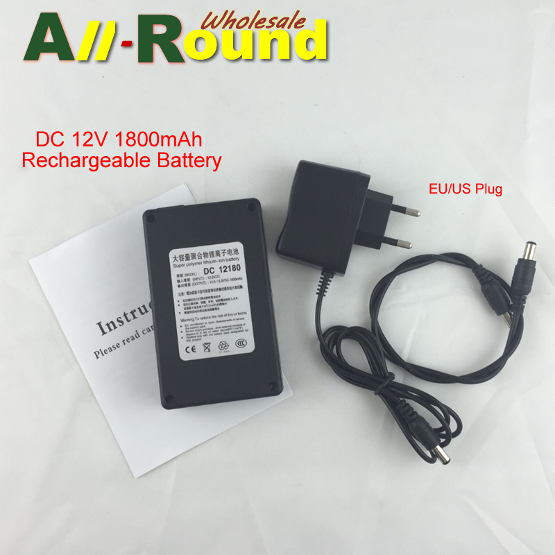 Portable 12V Li-polymer Super Rechargeable Battery Pack DC for CCTV Camera 1800mAh ECOS(China (Mainland))