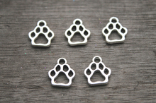 Buy 30pcs--Dog Paw Charms, Antique Tibetan Silver Tone Dog Paw charm pendants 17x19mm for $2.27 in AliExpress store