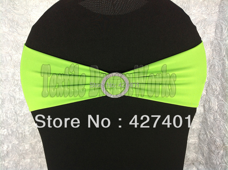 Здесь можно купить  Hot Sale Apple Green Spandex Bands / Lycra Band /Chair Covers Sash With Round Buckle For Wedding & Banquet Hot Sale Apple Green Spandex Bands / Lycra Band /Chair Covers Sash With Round Buckle For Wedding & Banquet Дом и Сад