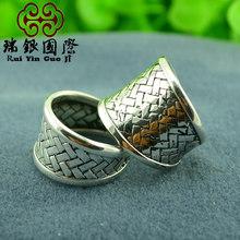 Кольцо на кольцо из вилочная часть и женское влюблённые являются широкий версия отверстие кольцо чистое серебро ювелирные изделия(China (Mainland))