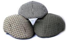 Classic Boys Kids Child Children Cotton Hound Tooth Beret Cap Newsboy Flat Hat HATYX0001(China (Mainland))
