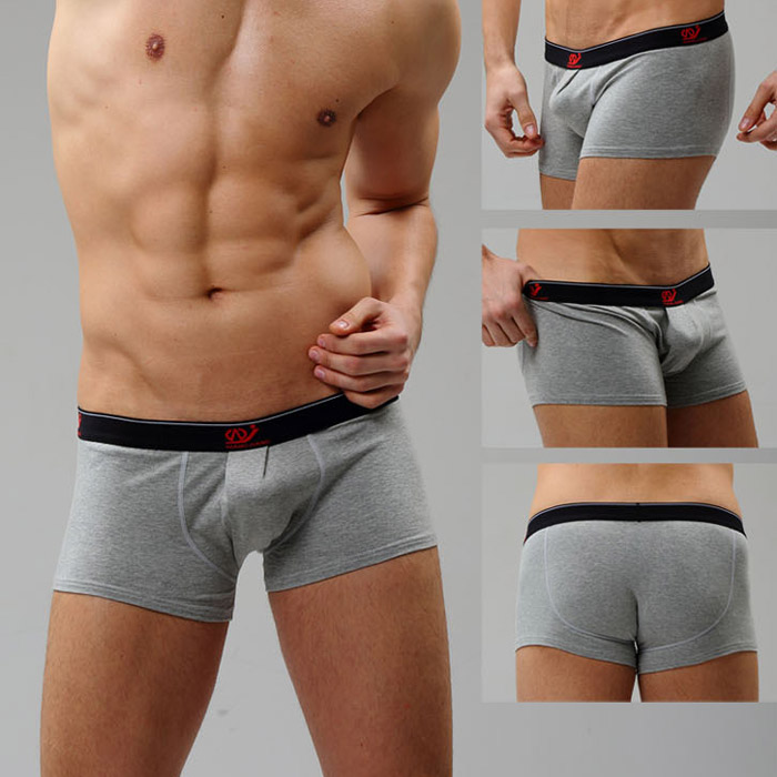 Men's comfortable Stretch cotton boxers underwear casual athletic Basics boxer with Pouch Enhancing Bulge 9 colors(China (Mainland))