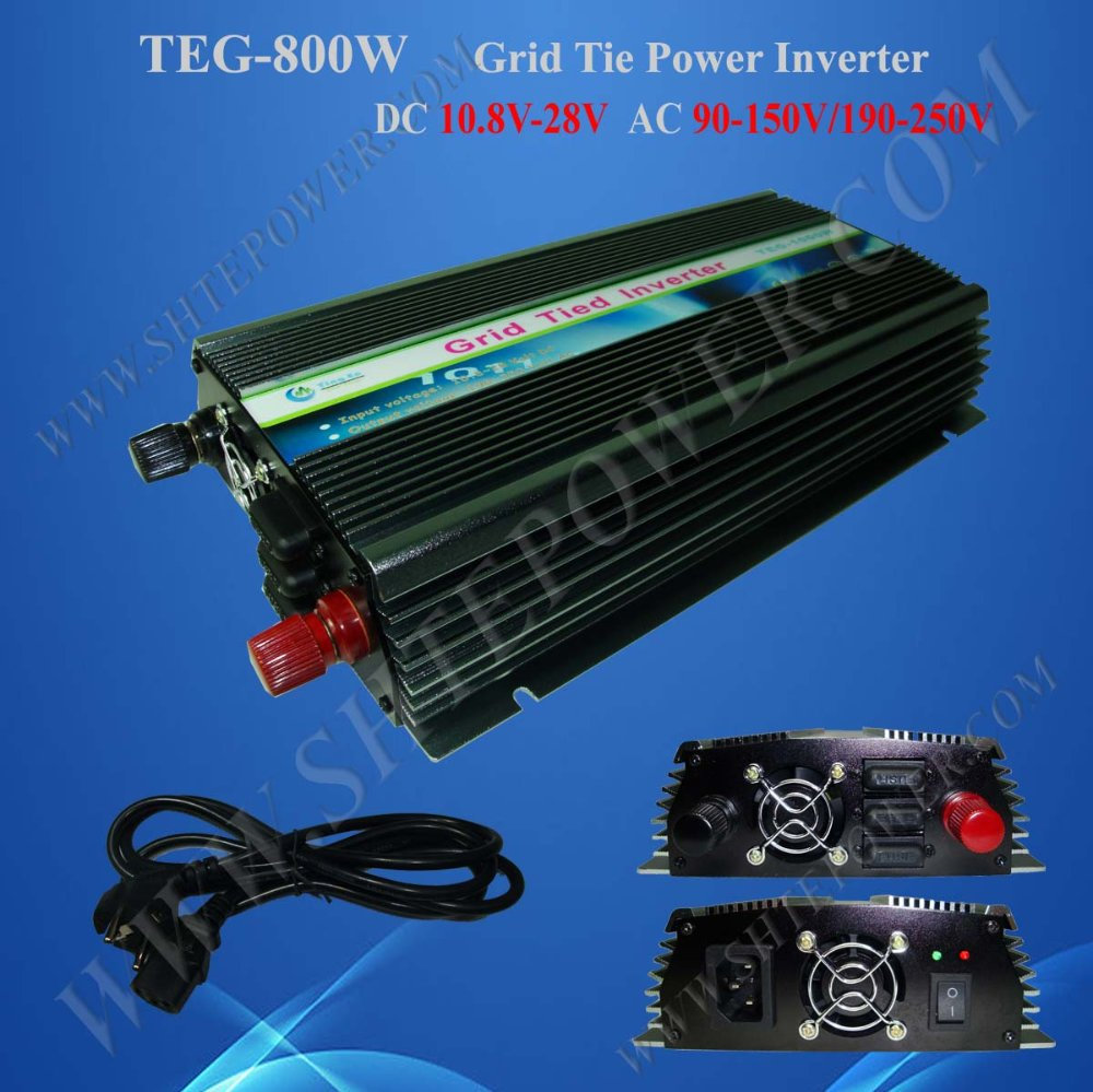 on grid tie solar inverter 800w best grid tie inverter dc 10.8-28v to ac 120v/230v(China (Mainland))