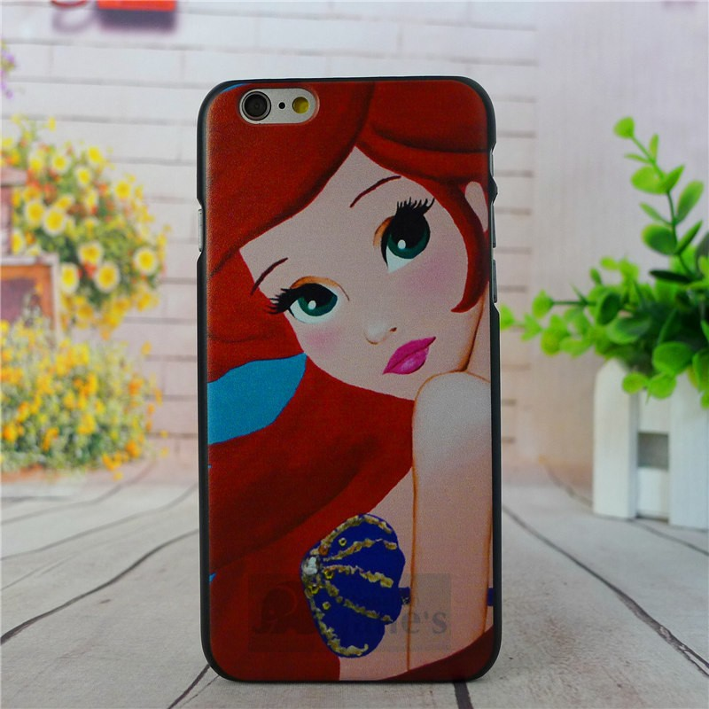 "4.7"" For Apple i Phone iPhone 6 Case Tattoo Ariel Little Mermaid series Protective Cover Case For iPhone6 Free Shipping"