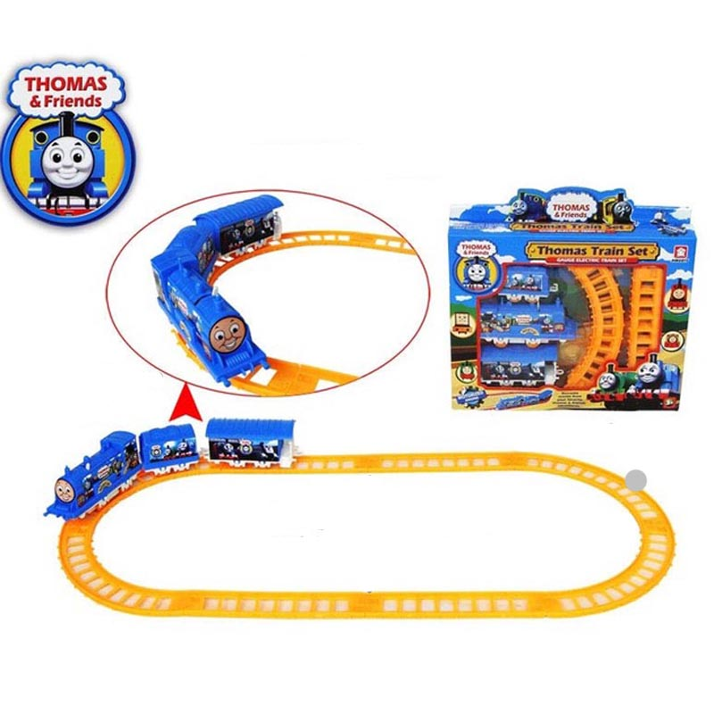 Thomas Puzzle Mini Electric Rail Car Assembly Rail Car Train Track Children's Toys Xmas Gift Box packing Free shipping(China (Mainland))