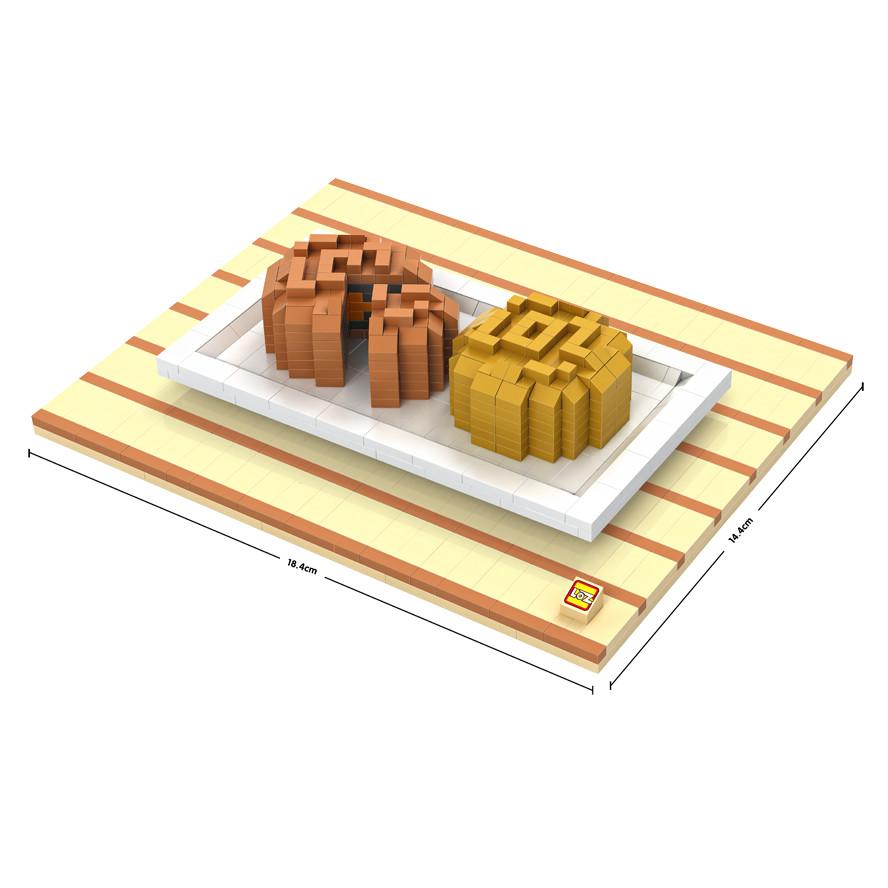 LOZ 9393 Mid Autumn Festival Double Yolk Moon Cake Diamond Bricks Building Block Minifigure Toys Gift(China (Mainland))