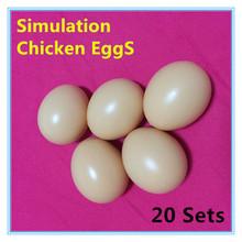 20 produits Simulation oeuf de poule enfants peinture oeufs de pâques colorés creux œufs à couver livraison gratuite(China (Mainland))