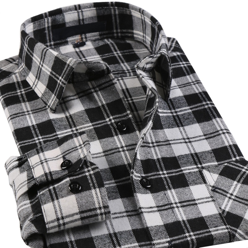 Online get cheap white flannel alibaba group for White flannel shirt mens