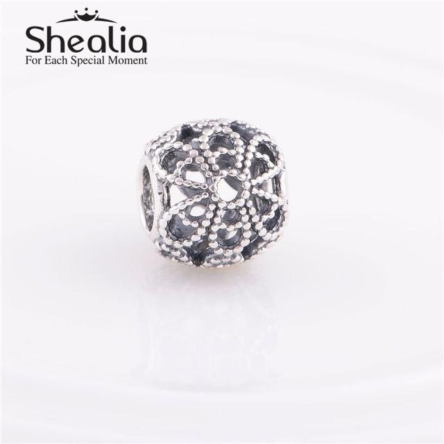 Винтажный цветы ажурные подвески-талисманы лучший подарок 925 чистое серебро женщины ювелирные изделия изделий подходит браслеты