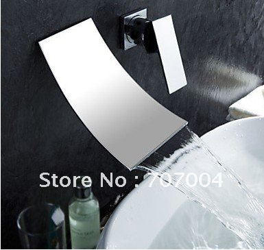 arrivals waterfall wall mount single handle basin faucet mixer tap bathroom sink cocealed installation chrome finish RZ-304