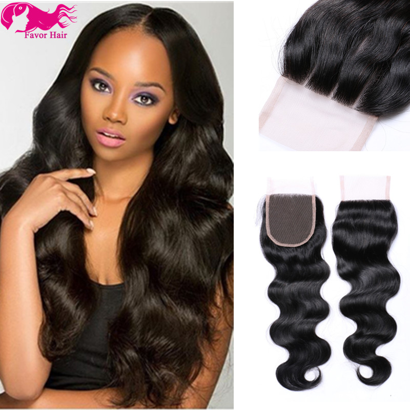 Unprocessed Brazilian Virgin Hair Lace Closure Human Hair Body Wave Closure Bleached Knots 3.5x4 Natural Color Free Part Closure<br><br>Aliexpress