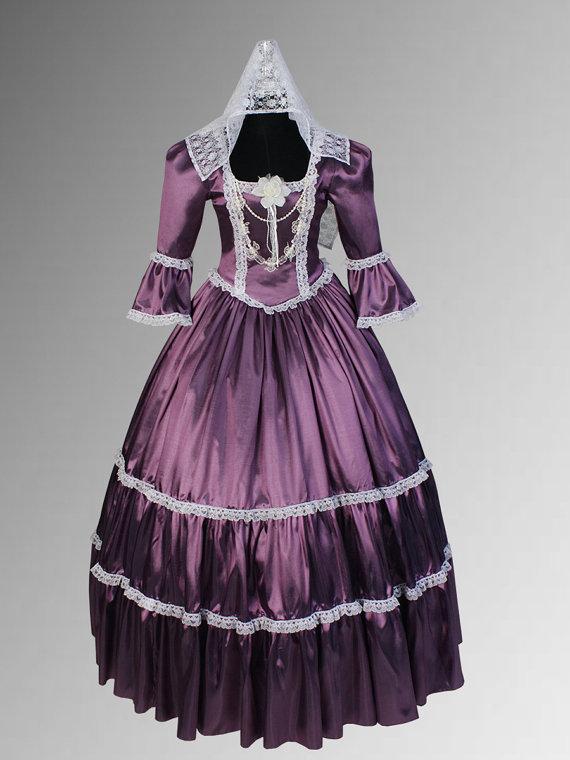 Renaissance or Victorian Style Handmade Dress Lace Taffeta with Choker Necklace Multiple Colors AvailableÎäåæäà è àêñåññóàðû<br><br>