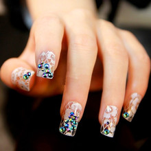 300pcs 3D Nail Art gel Tips Crystal Glitter glitter powder nail art beauty decorations glitter for