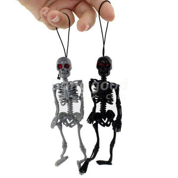 CanMore Halloween Trick Toys Hang Simulation Little Human Skeleton.(China (Mainland))