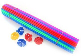 100sets 40cm length balloon prop rod decoration Plastic stick accessories for balloons