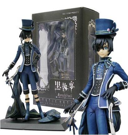 18cm Black Butler Kuroshitsuji Ciel Phantomhive Action Figures PVC brinquedos Collection Figures toys for christmas gift<br><br>Aliexpress