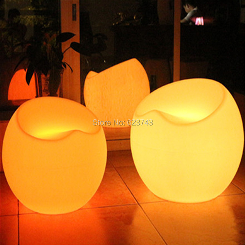 RGB color changing rechargeable commercial bar furniture small apple shape led bar chair (4)