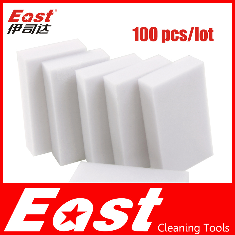 EAST Magic Sponge Eraser Melamine Cleaner multi-functional high-efficiency for Household Cleaning tools with white 100 pcs/lot(China (Mainland))