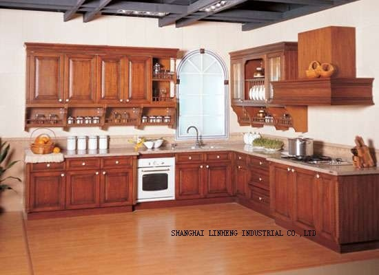 Solid wood kitchen cabinets sets (LH-SW019)(China (Mainland))