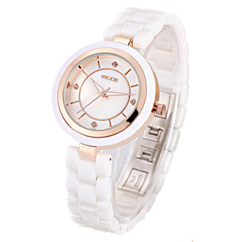 KEZZI Brand New Fashion&Casual Women Ceramic Wristwatches High Quality Watches Fashion Clock Quartz Analog watch K897