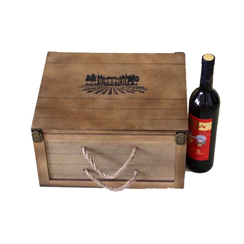 Вино в деревянном ящике подарок 3