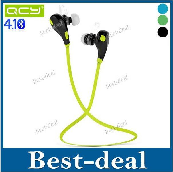 Original QCY QY7 Wireless Bluetooth 4.1 Stereo Earphone Fashion Sport Running Headphone Studio Music Headset for Iphone w Mic(China (Mainland))