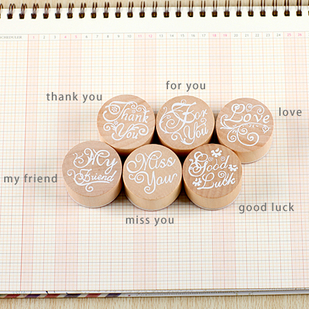 Гаджет  Minimum order $10 (Mix order) Free shipping  DIY Blessing Wooden Rubber Stamps Decorative Photo Album Diary Stamp None Дом и Сад
