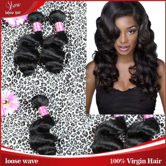 Aliexpress Brazilian Hair Loose Wave 7A Virgin Hair Extension 100% Virgin Brazilian Human Hair Nature Black Color IShow Product<br><br>Aliexpress