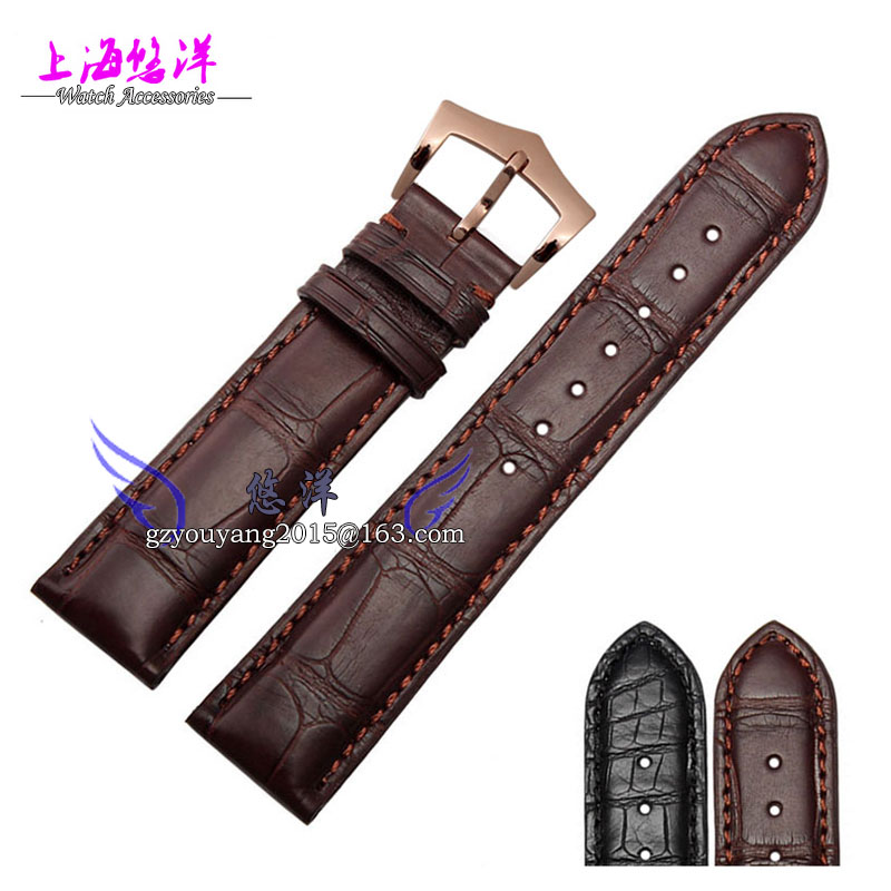 The crocodile leather strap Adapter super 20 mm dark brown complex functions in a timely manner(China (Mainland))
