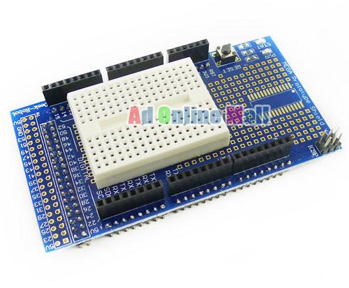 Arduino ProtoShield V5 with Mini Breadboard