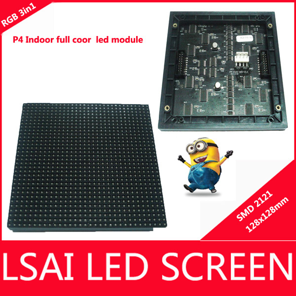 P4 LED Module display signsSMD(1R1G1B) Indoor China shenzhen factory LED displays,LED Video Wall, LED Signs 128*128, 1/16 scan(China (Mainland))