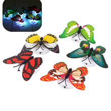 1pc Change Colors Home Decorative Wall Nightlights Butterfly Wall Xmas Decor LED Night Light Lamp Color Random(China (Mainland))
