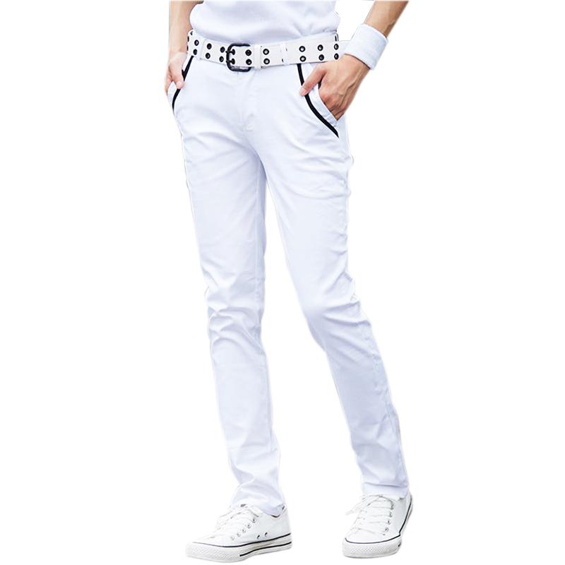 New Fashion 2015 Spring Slim Skinny Pants Cotton White Pants Multicolor Male Summer Casual Harem Men Pants Size:27-34(China (Mainland))