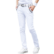 New fashion 2014 spring slim skinny pants cotton white pants multicolor male summer casual harem pants men size:27-34