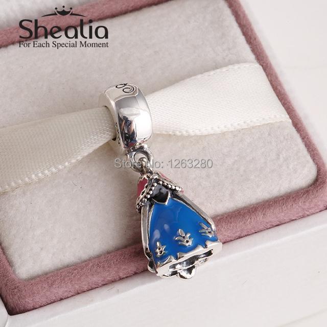 Подходит своими руками браслет весна анна платье мотаться подвески-талисманы с синий эмаль 925 чистое серебро ювелирные изделия SH0626