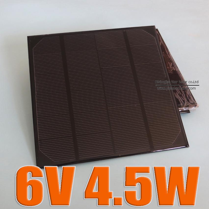 6V 4.5W 720mA Mini Solar cells Panel monocrystalline polycrystalline 6V 5W solar cell battery Panel charger(China (Mainland))