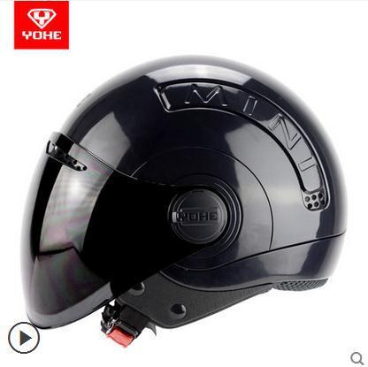 2015 Top quality retro YOHE mini motorcycle helmet fashion moto motorbike men women half face helmet vintage casco capacete(China (Mainland))