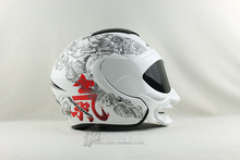 Free Shipping Genuine white gas Marushin helmet motorcycle helmet / samurai helmet half face double lens marushinC609(China (Mainland))