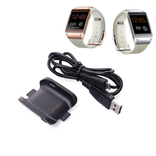 Charger Cradle Charging Dock Decktop + Micro USB Cable For Samsung Galaxy Gear Smart Watch SM-V700 Black AC187