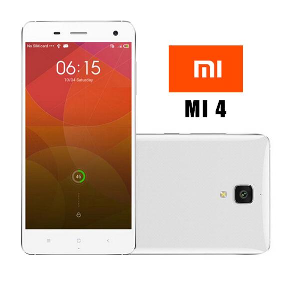 Xiaomi Mi4 M4 16gb 64gb 4G LTE Telephones Originals Snapdragon Quad Core 2.5GHz Smartphone Android 3GB RAM Mi 4 Russian Language()