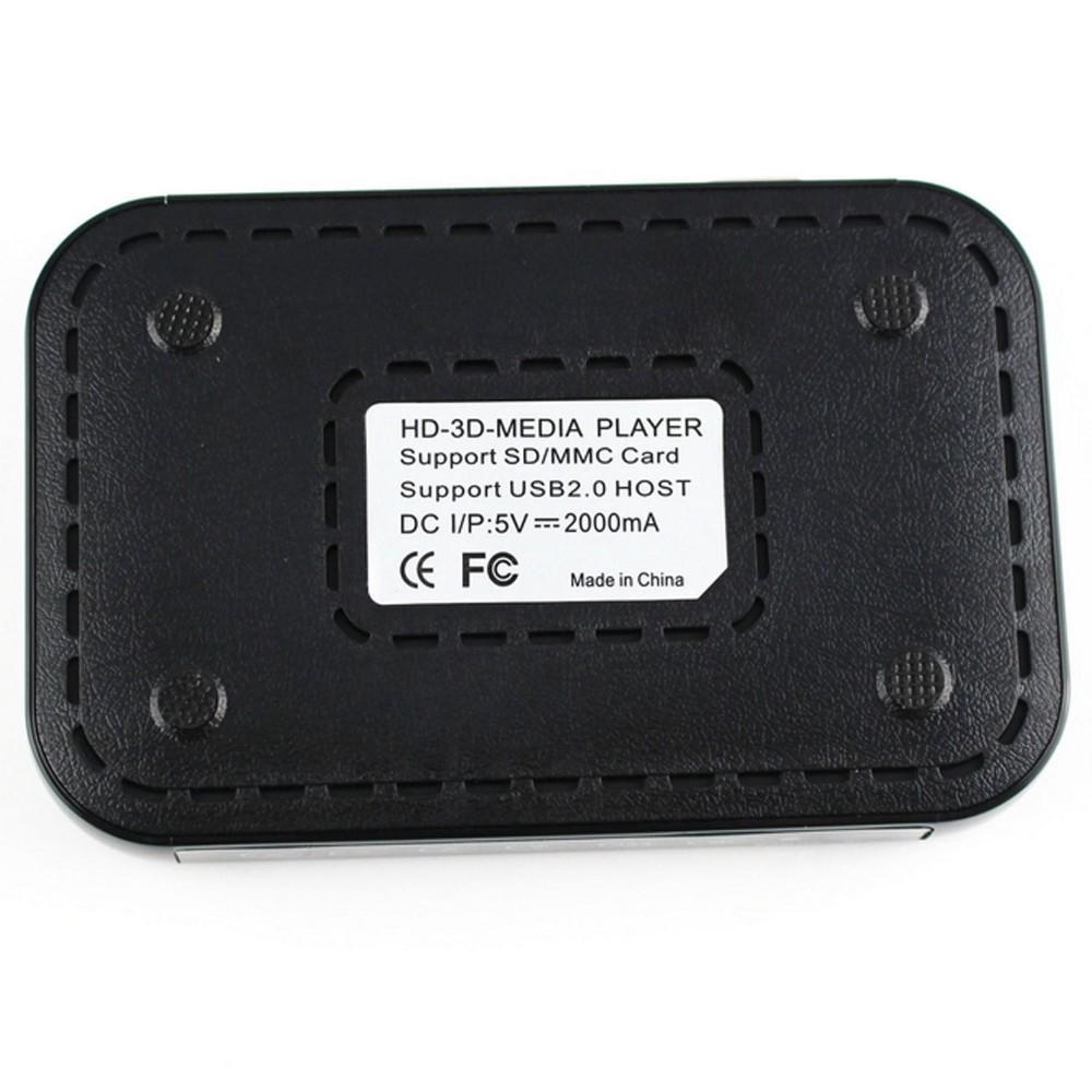 ถูก 2015ใหม่ล่าสุดมินิเต็มHD1080p H.264 MKV HDD HDMIสื่อlayerศูนย์USB OTG SD AVทีวีAVI RMVB RM HD601