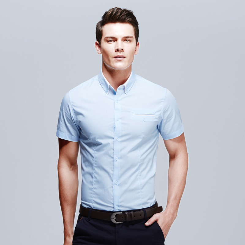 Shirts part 868 for Mens slim fit short sleeve shirt