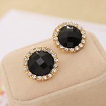 Brand New FASHION spherical Candy Crystal Flower Stud Earrings for Women E126